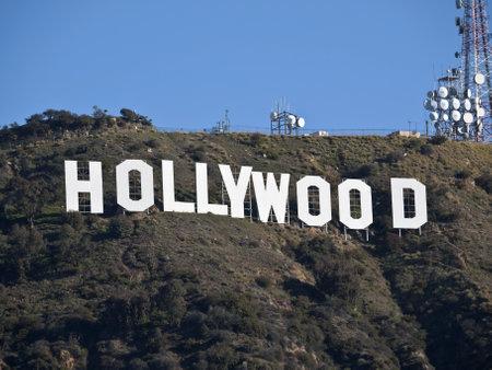 Hollywood, California, USA - February, 27th 2011:  The world famous landmark Hollywood Sign in LAs Griffith Park.