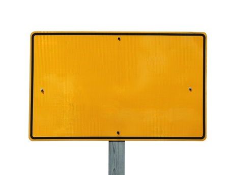 Blank reflective yellow highway message sign. Stock Photo - 8993646