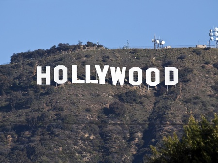 Hollywood, California, USA - February, 27th 2011:  The world famous Hollywood sign in Los Angeles's popular Griffith Park. Stock Photo - 8971174