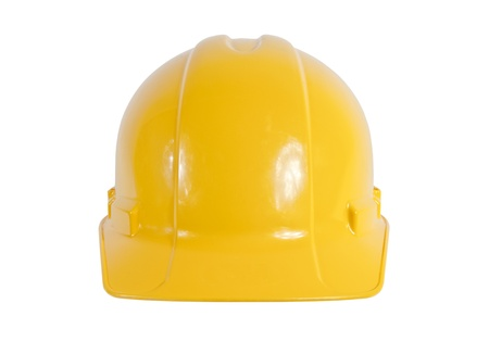 New yellow safety hard hat isolated on white. Stock Photo - 9255388