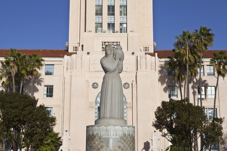 San Diego, California, USA - March, 24th 2011: The historic San Diego City and County Administration Building. Stock Photo - 9654793