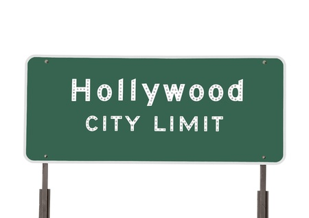 Hollywood city limits sign isolated on white. Stock Photo - 10064876