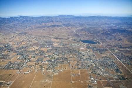 Aerial of Palmdale in California's Mojave desert. Stock Photo - 10181611