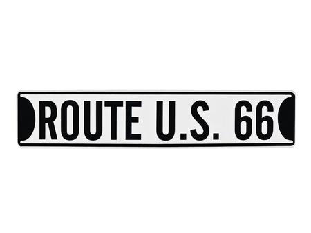 Vintage U.S. Route 66 sign isolated on white. 版權商用圖片