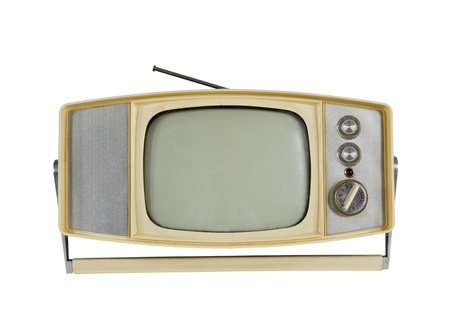 Vintage 1960s Portable Television with Handle Stand photo