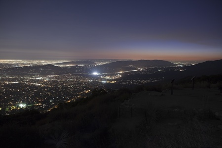 Los Angeles at night.  Shot from the top of Echo Mtn in the Angeles national Forest. Stock Photo - 10485651