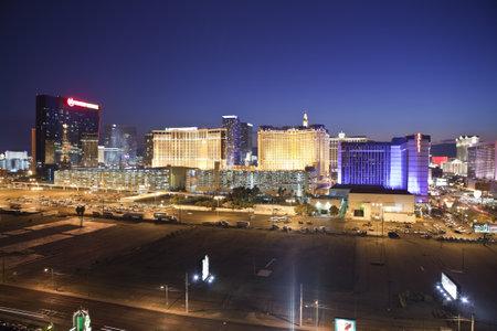 Las Vegas, Nevada, USA - September 7, 2011:  Night view towards the Las Vegas strip in southern Nevada. Stock Photo - 10559218