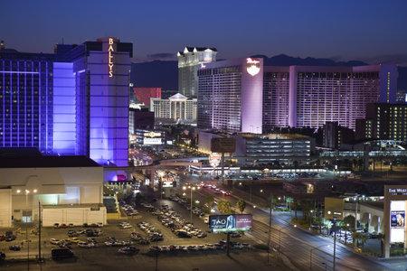 Las Vegas, Nevada, USA - September 7, 2011:  Night view towards the Las Vegas strip in southern Nevada. Stock Photo - 10559219