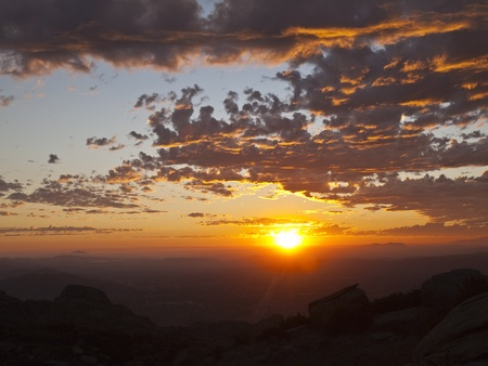 Simi Valley in Southern California at sunset.  Shot from Rocky Peak Park. Stock Photo - 10702361