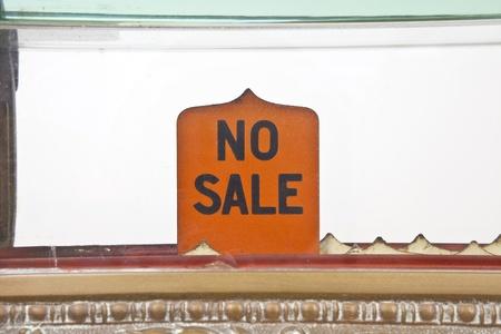 Vintage 1920s cash register no sale pop up sign.
