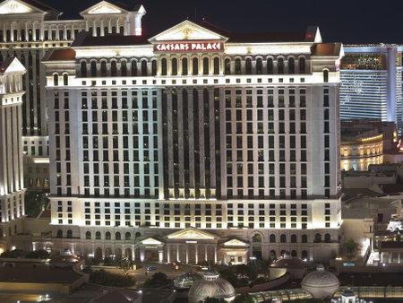las vegas night: Las Vegas, Nevada, USA - October 6, 2011:  Caesars Palace a 3349 room luxury resort on the Las Vegas strip in Southern Nevada.