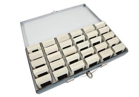 Retro slide photography storage box isolated on white. Stock Photo - 10920282