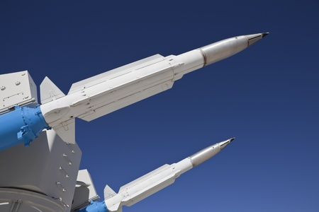 Ground to air missile ready for flight  photo