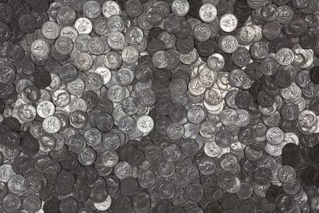 Reflective US Quarters background.  Newer
