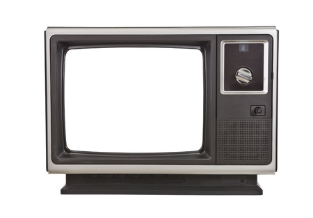 Vintage TV from the 1970's, isolated on white. Stock Photo - 11813673