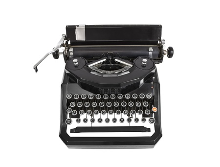 Vintage typewriter isolated on white. Stock Photo - 11813676