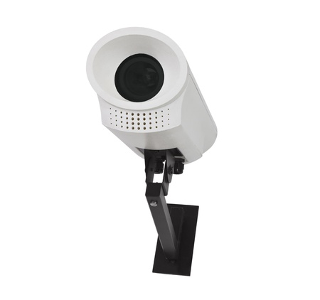 Security camera isolated on white.   photo