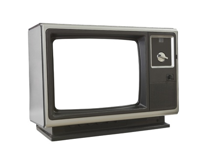 Vintage blank television isolated on white. Stock Photo - 11813683
