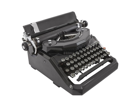 Old typewriter isolated on white. Stock Photo - 12074973