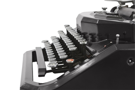 Vintage typewriter profile isolated on white. Stock Photo - 12428538