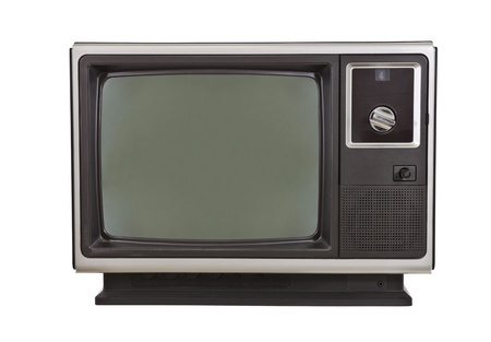 Vintage TV from the 1970 Stock Photo - 12428542