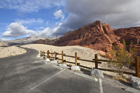 Calico rocks at Nevadas Red Rock National Conservation Area. Stock Photo