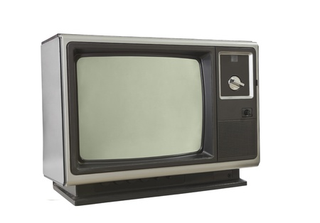 Vintage 1970's television isolated on white. Stock Photo - 12743479