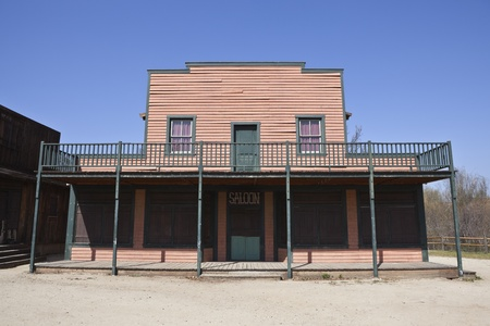 Historic Paramount Ranch movie set, owned by US National Park Service. Editoriali