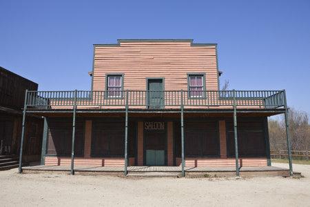 Historique Paramount Ranch décor de cinéma, détenue par des États-Unis National Park Service. Banque d'images - 12444629