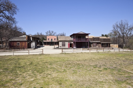 western town: Historic western movie set owned by US National Park Service. Editorial