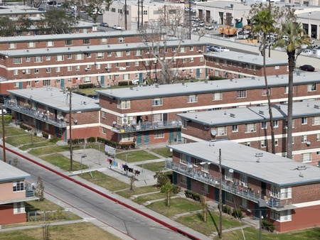 owned: City owned public housing project in the western United States. Editorial