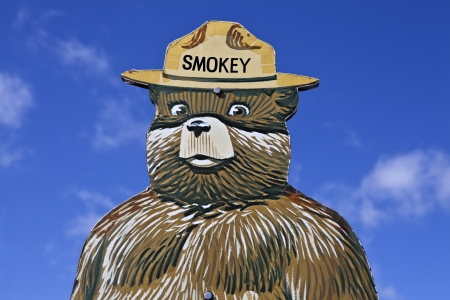 Santa Fe, New Mexico, USA - April, 12, 2012:  Smokey the Bear forest fire prevention sign educates tourists and children in the prevention of wild fires.   Stock Photo - 13182505