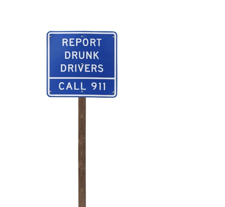Tall isolated report drunk drivers on a wooden post. Stock Photo - 13273954