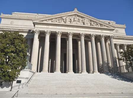 national monuments: The National Archives Building in Washington DC.