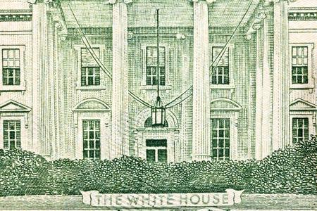 Macro of the White House on back of the US twenty dollar bill. Stock Photo - 13565146