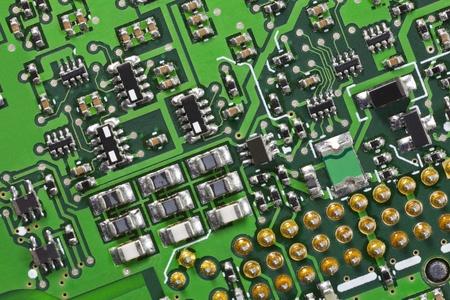 Macro detail of a high tech circuit board Stock Photo - 13553580