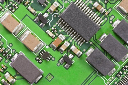 Macro detail of a high technology circuit board. Stock Photo - 13585730