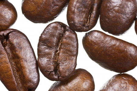 Extreme macro of french roast coffee beans. Stock Photo - 13629029