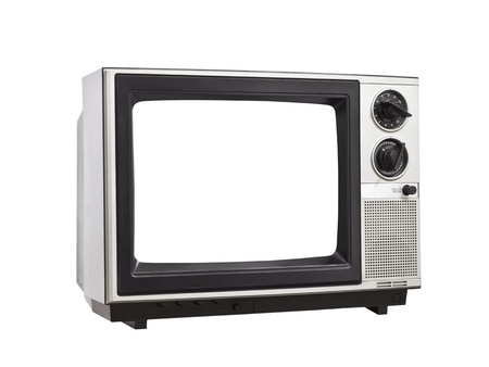 Vintage Television isolated with blank, empty screen. Stock Photo - 13882978
