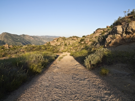 rocky peak: Rocky Peak Park mountain road between Los Angeles and Simi Valley California