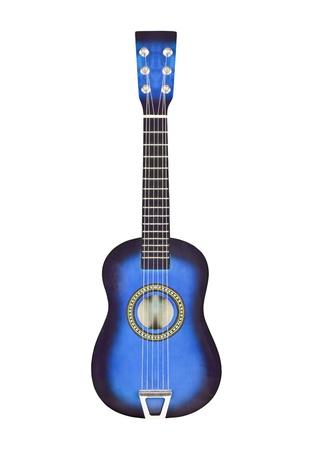 Deep blue toy six string ukulele size toy guitar  Stock Photo - 14562584