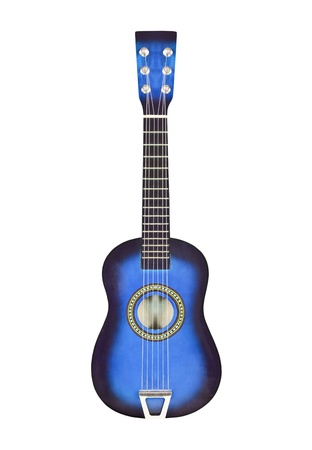 Deep blue toy six string ukulele size toy guitar Stock Photo - 14562584