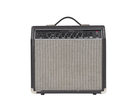 Worn vintage guitar amplifier photo