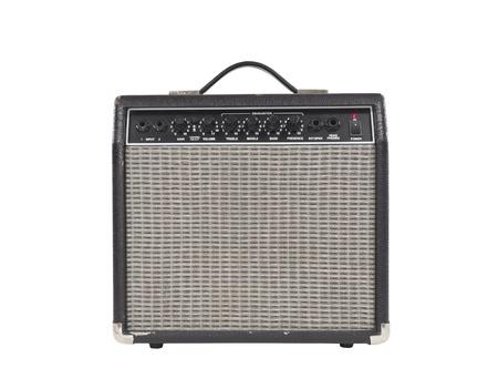 Worn vintage guitar amplifier photo