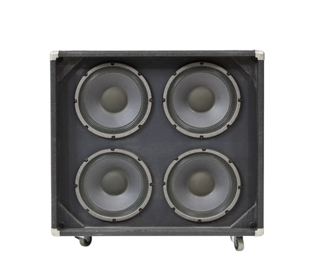 Guitar amplifier speaker box isolated photo