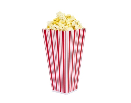 Fresh popcorn with a text free container Stock Photo - 14627520