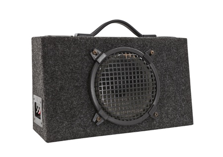 Old car audio boom box woofer Stock Photo - 14627526