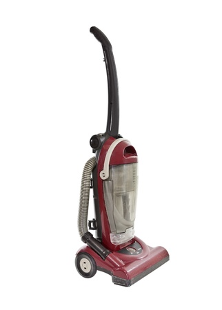 Old red vacuum isolated Stock Photo