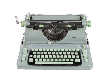 Vintage green 1960s vintage typewriter isolated  Stock Photo - 14723879