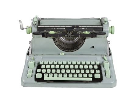 Vintage green 1960s vintage typewriter isolated Stock Photo - 14723879